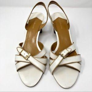 LIZ CLAIBORNE white Sandals